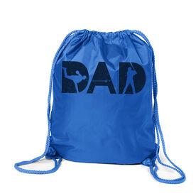 Baseball Sport Pack Cinch Sack - Baseball Dad Silhouette
