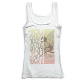 Basketball Vintage Fitted Tank Top - You Miss 100% Of The Shots