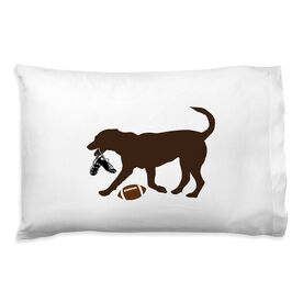 Football Pillowcase - Flash The Football Dog