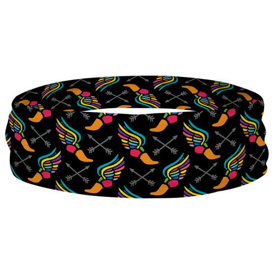 Track and Field Multifunctional Headwear - Winged Foot Pattern RokBAND