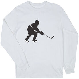 Hockey Tshirt Long Sleeve Hockey Player