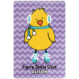 "Figure Skating 18"" X 12"" Aluminum Room Sign Figure Skate Chick Chevron"