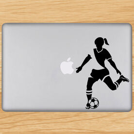 Soccer Girl Player Removable ChalkTalkGraphix Laptop Decal