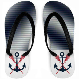 Girls Lacrosse Flip Flops Anchors & Sticks