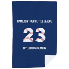 Baseball Premium Blanket - Personalized Number Stitches