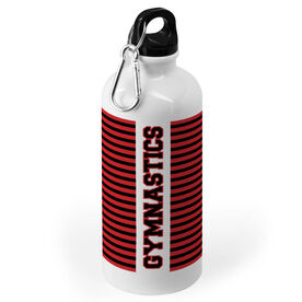 Gymnastics 20 oz. Stainless Steel Water Bottle - Word With Stripes