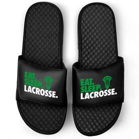 Guys Lacrosse Black Slide Sandals - Eat Sleep Lacrosse