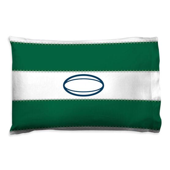 Rugby Pillowcase - Ball Stripes