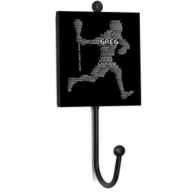 Guys Lacrosse Medal Hook - Personalized Word Player