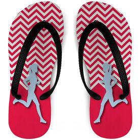 Running Flip Flops Runner Girl Chevron