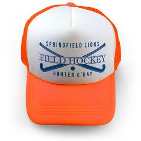 Field Hockey Trucker Hat - Personalized Crest