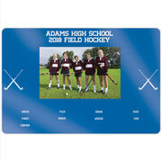 "Field Hockey 18"" X 12"" Aluminum Room Sign - Team Photo With Roster"