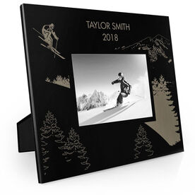Skiing Engraved Picture Frame - Flying Skier