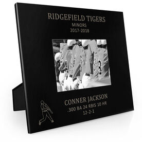 Baseball Engraved Picture Frame - Player Stats