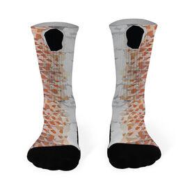 Fly Fishing Printed Mid Calf Socks Redfish
