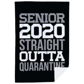Premium Blanket - Senior 2020 Straight Outta Quarantine