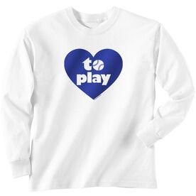 Softball Tshirt Long Sleeve Heart to Play