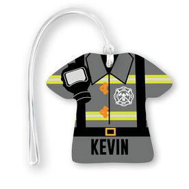 Personalized Jersey Bag/Luggage Tag - Firefighter Outfit