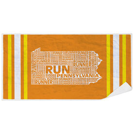 Running Premium Beach Towel - Pennsylvania State Runner