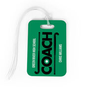 Field Hockey Bag/Luggage Tag - Personalized Coach