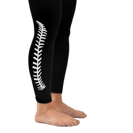 Baseball Leggings Baseball Stitches