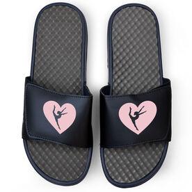 Gymnastics Navy Slide Sandals - Gymnastics in my Heart