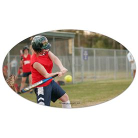 Softball Oval Car Magnet Your Photo