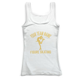 Figure Skating Vintage Fitted Tank Top - Personalized Team