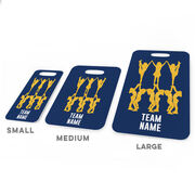 Cheerleading Bag/Luggage Tag - Cheer Pyramid with Team Name