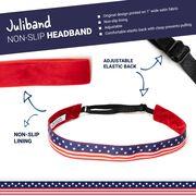 Athletic Juliband Non-Slip Headband - USA Flag