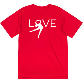 Figure Skating Short Sleeve Performance Tee - Love
