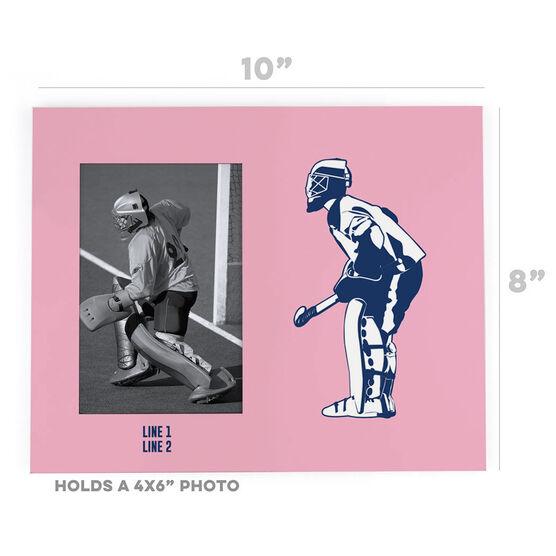 Field Hockey Photo Frame - Goalie