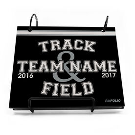 BibFOLIO® Race Bib Album - Track & Field Team