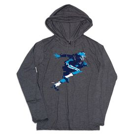 Men's Football Lightweight Hoodie - In The Blur of a Moment