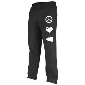 Peace Love Cheerleading (Symbols) Fleece Sweatpants
