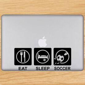 Eat Sleep Soccer Removable ChalkTalkGraphix Laptop Decal