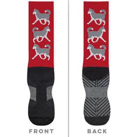 Printed Mid-Calf Socks - Husky