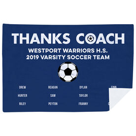 Soccer Premium Blanket - Thanks Coach (Horizontal)