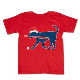 Baseball Toddler Short Sleeve Tee - Play Ball Christmas Dog