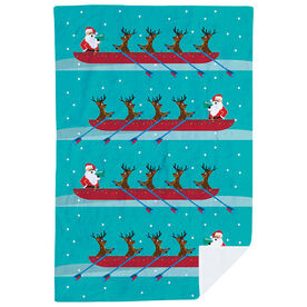 Crew Premium Blanket - Crew Reindeer And Santa Pattern