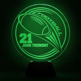Football Acrylic LED Lamp Hail Mary With 1 Line and Number