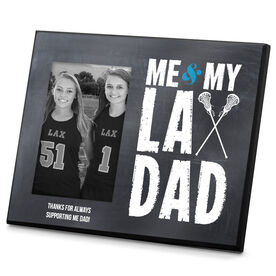 Girls Lacrosse Photo Frame Me & My Lax Dad
