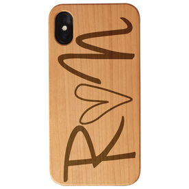 Running Engraved Wood IPhone® Case - Run Heart