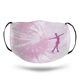 Figure Skating Face Mask - Figure Skater with Tie-Dye