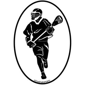 Fast Break Lacrosse Oval Decal (Male)