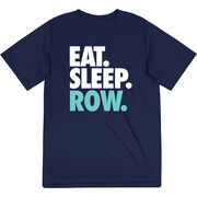 Crew Short Sleeve Performance Tee - Eat. Sleep. Row.