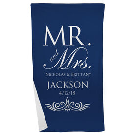 Personalized Beach Towel - Our Wedding Day Cheers