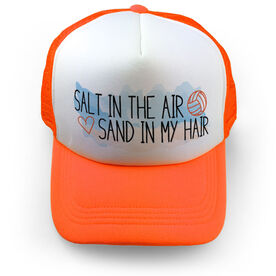 Volleyball Trucker Hat Salt In The Air Sand In My Hair