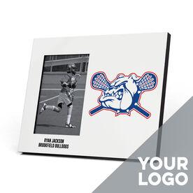 Guys Lacrosse Photo Frame - Custom Logo