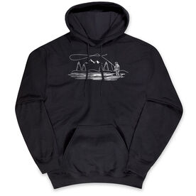 Fly Fishing Hooded Sweatshirt - Fly Fishing Player Sketch